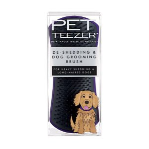 Escova Pet Teezer De-Shedding Purple Black - Tangle Teezer