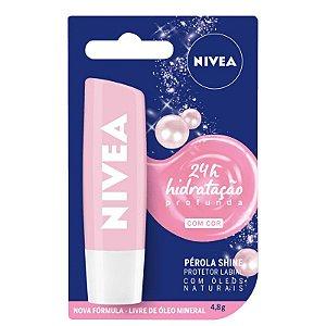 Hidratante Labial Pérola Shine 24h - Nivea