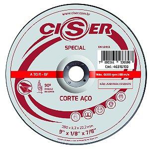 DISCO CORTE ACO CISER SPECIAL 230(9)X3,2X22,2