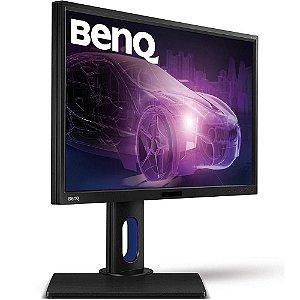 """Monitor BenQ LED 23.8"""" Widescreen, QHD, IPS, HDMI/VGA/DVI, Som Integrado, Altura Ajustável - BL2420PT"""