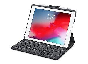 Capa Slim Folio da Logitech com teclado Bluetooth integrado para iPad (5ª e 6ª geração)