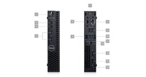 Desktop Dell Optiplex 3070M Intel Core I5-9500T 8GB HD 256GB SSD Windows 10 Pro - 210-ATBX-I5-8GB