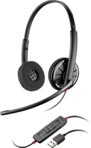 Headset com Fio USB Blackwire C320M Plantronics
