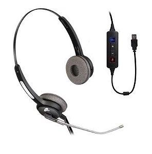 Headset HTU-310 USB Voip - Biauricular