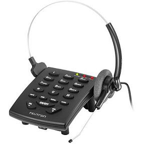 Telefone Headset Felitron Stile Preto - S8010 Black C