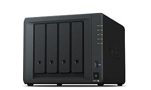 Storage NAS Synology DiskStation DS918+ 4 Baias (expansível a 9 baias) - Sem Disco