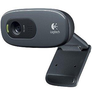 WEB CAM USB HD 720p C270 com Microfone Preto Logitech