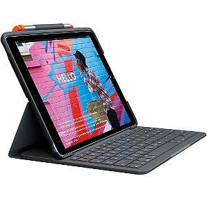Capa Logitech Slim Folio com Teclado Para iPad 7ª geração - 920-009473