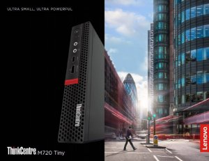 Lenovo Desktop M720q Tiny, Intel Core I3-8100T, 4GB RAM, 500GB HD, Windows 10 Pro, 1 ano on-site