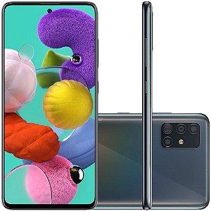 "Smartphone Samsung Galaxy A51, 128GB, 48MP, Tela 6.5"", TV Digital, Preto - SM-A515FZKBZTO"