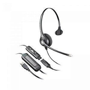 Headset Plantronics SupraPlus HW251N, Cancelador de Ruído, Quick Disconnect - 64338-31