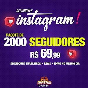 Seguidores Para Instagram - 2000 seguidores
