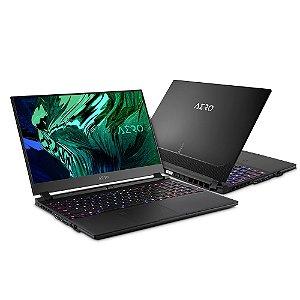 Notebook modelo  aero gigabyte oled 15.6 polegadas  i7-10 geração rtx3060 16gb ssd pcie 512gb win 10 pro