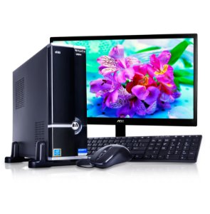 PC GigaPro Essential Pentium 4GB HDD1TB Slim W10 + MONITOR 21