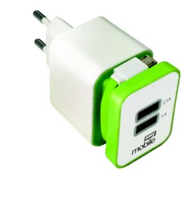 CARREGADOR SMART 2,1 USB VERDE