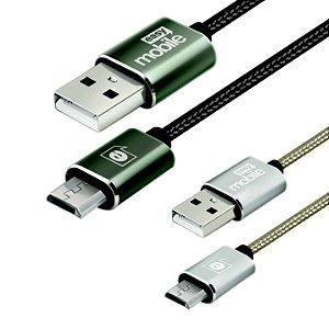 CABO PREMIUM PROMOCIONAL MICRO USB GRAFITE 2/1