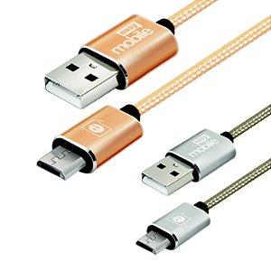 CABO PREMIUM PROMOCIONAL MICRO USB DOURADO 2/1