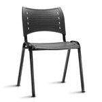 cadeira fixa preta regiani
