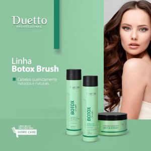 Kit Botox Brush Duetto- Shampoo, condicionador e máscara