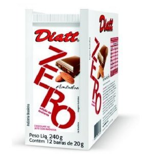 Chocolate Diatt Zero Acucar Amendoa - Display 12un