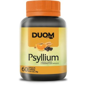 Psyllium com Laranja, Ameixa e Tamarindu 60caps Duom