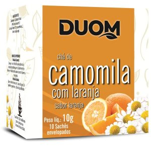 Cha de Camomila com Laranja 10 saches Duom