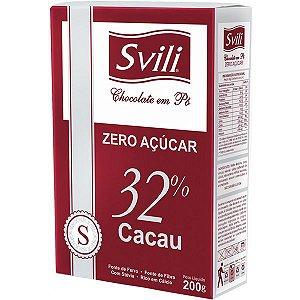 Chocolate em Po Zero Acucar 200g Svili