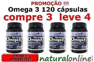 Promoção Ômega3 120 cápsulas - Compre 3 Leve 4