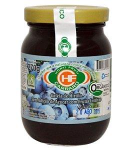 Geleia de Mirtilo Organica Sem Adicao de Acucar 270g HF Carraro