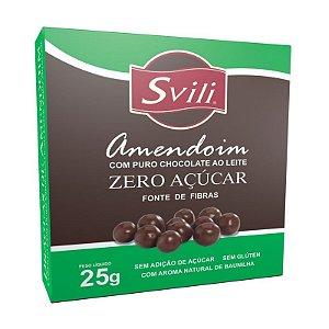 Drageado de Amendoim com Chocolate Zero Acucar 25g Svili