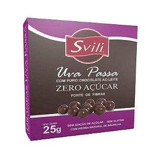 Drageado de Uva passa com Chocolate Zero Acucar 25g Svili