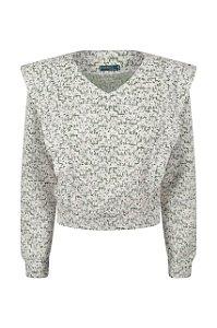 Blusa Tweed Preta