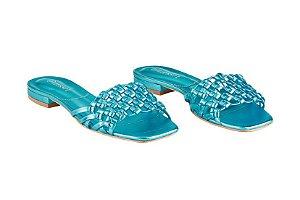 Flat Débora Azul Metalizado