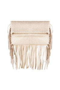 Clutch Tresse Franja Off White