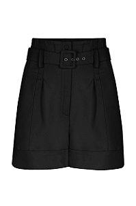Shorts com Cinto Preto