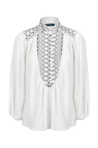 Camisa Bordada  Branca