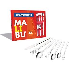 Faqueiro Conjunto de Talheres Inox Malibu 42 Peças - Tramontina