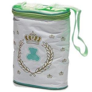 Porta Mamadeira Protetor Térmico Duplo Verde Unisex