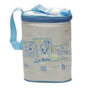 Porta Mamadeira Protetor Térmico Duplo Azul Menino Animais