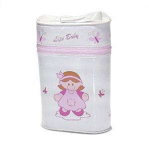 Porta Mamadeira Térmico Duplo Lipi Baby Com Isopor Boneca