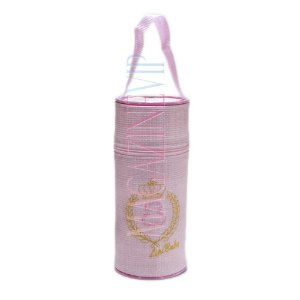 Porta Mamadeira Térmico Isopor Até 360 ml Unit Bordado Rosa