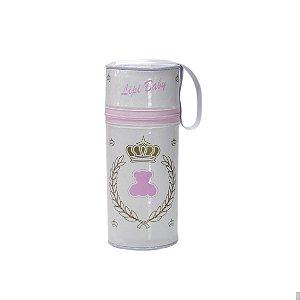 Porta Mamadeira Protetor Térmico Isopor Até 360 ml Rosa