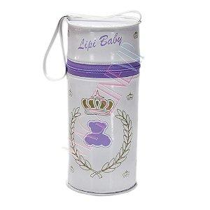 Porta Mamadeira Protetor Térmico Unitário Com Isopor Lilás