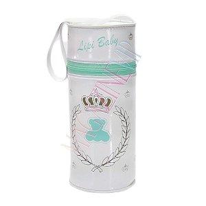 Porta Mamadeira Protetor Térmico Isopor Até 360 ml Verde