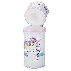 Porta Mamadeira Protetor Térmico Isopor Até 360 ml Unicórnio