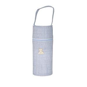 Porta Mamadeira Térmico Isopor Até 360 ml Unit Aplique Azul