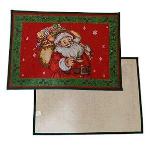 Capacho Tapete Natalino Papai Noel Com Presentes 48x68cm