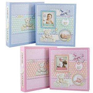 Álbum De Fotos Infantil Baby 120 Fotos 10x15 e 2 Fotos Na Capa