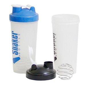 Coqueteleira Shaker Transparente Com Mola Mixer Ball 600ml