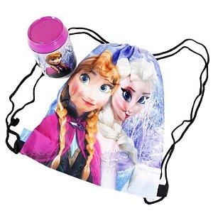 Lata Porta Objeto Com Mochila Disney Frozen